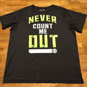 """GUC Boys Under Armour """"Never Count Me Out"""" SS YXL"""